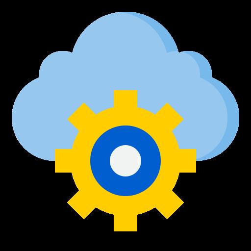 servicio de almacenamiento en la nube  icono gratis