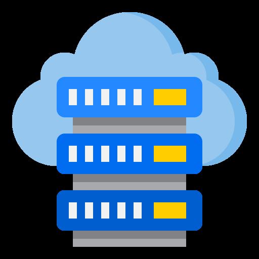 servidor en la nube  icono gratis