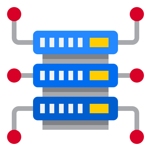 almacenamiento de datos  icono gratis