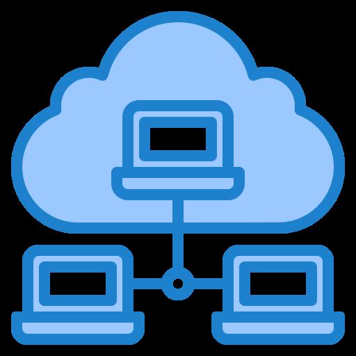 red en la nube  icono gratis