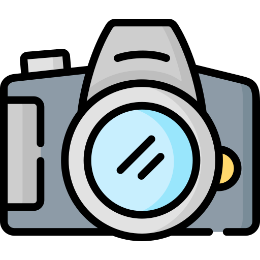Цифровая зеркальная камера  бесплатно иконка