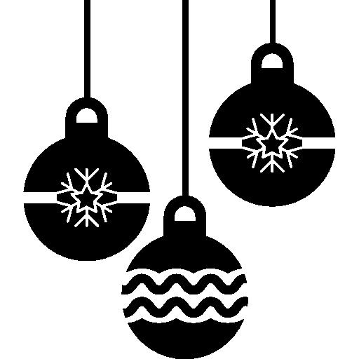 Рождественские шары  бесплатно иконка