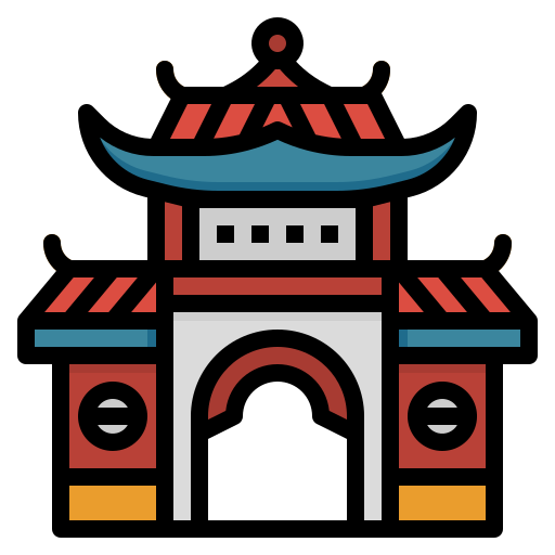 Chinese temple  free icon