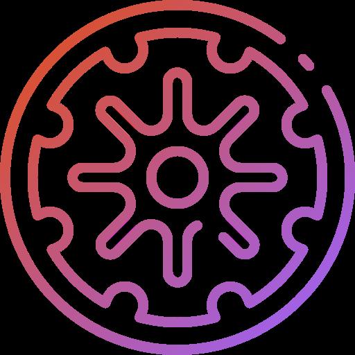 Dharma wheel  free icon