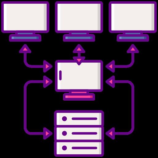 호스팅 서버  무료 아이콘