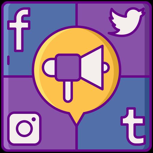social media marketing  kostenlos Icon