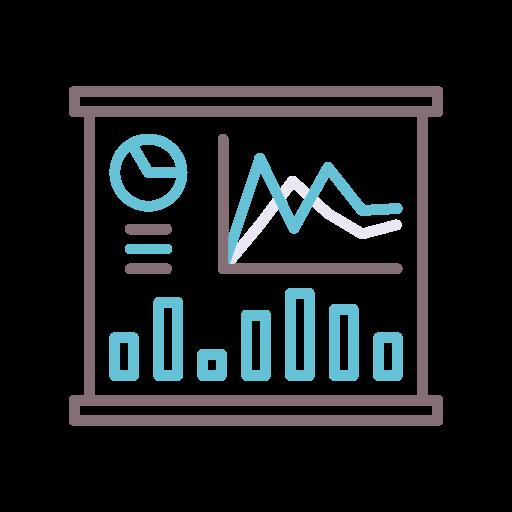visualización de datos  icono gratis
