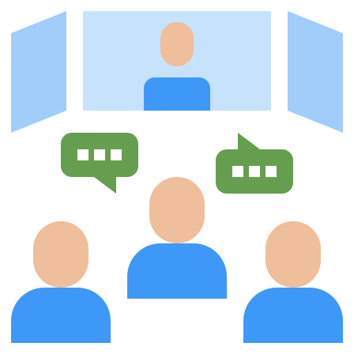 Online conference  free icon