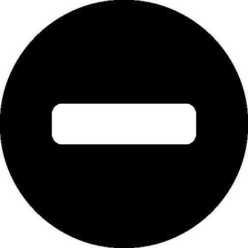 signe moins à l'intérieur d'un cercle noir  Icône gratuit