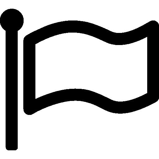 symbol der weißen flagge  kostenlos Icon