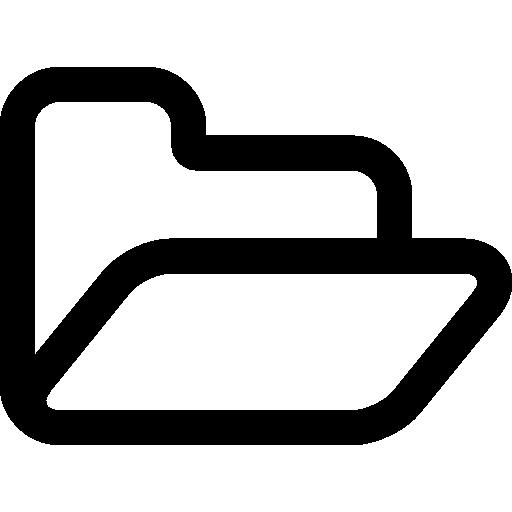 Схема открытой папки  бесплатно иконка