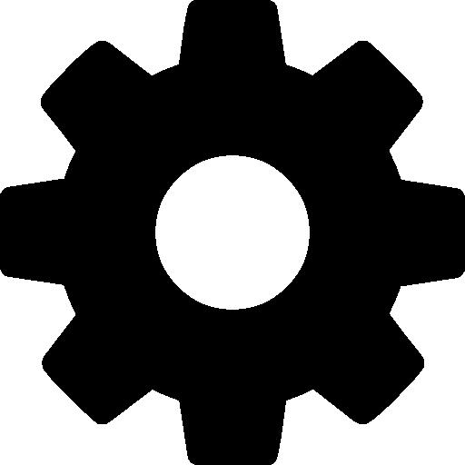 silueta de rueda dentada  icono gratis