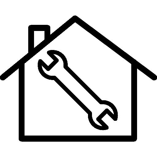 symbole de réparation à domicile  Icône gratuit