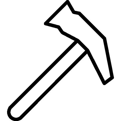contour de l'outil marteau  Icône gratuit