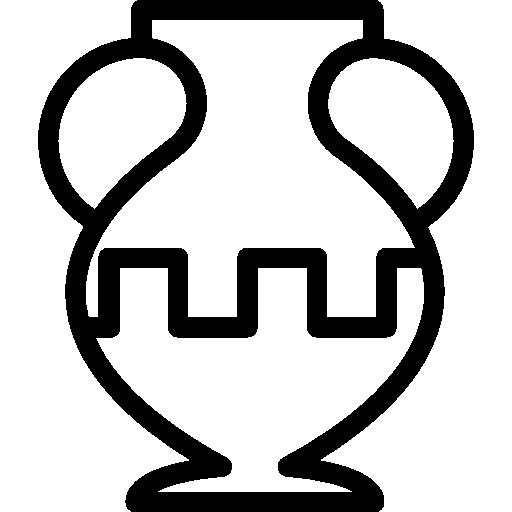 contour de pot ancien dans un musée  Icône gratuit