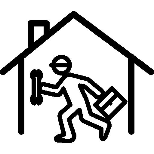 réparateur à l'intérieur d'une maison  Icône gratuit