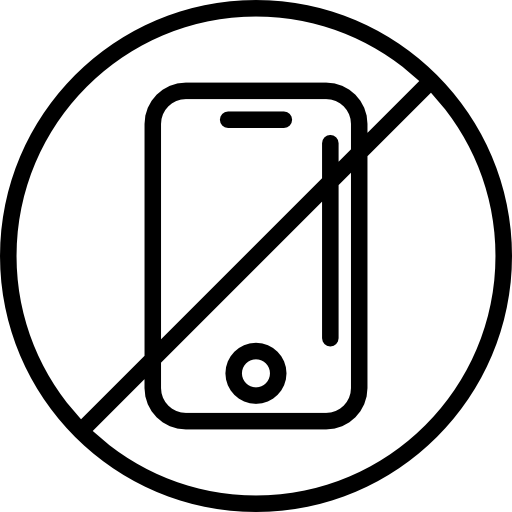 No mobile phone allowed  free icon