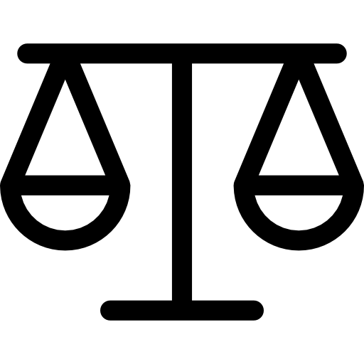 Balancing scale outline  free icon