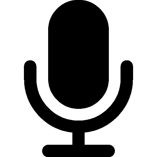 Microphone black shape  free icon
