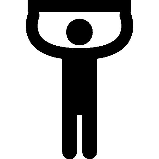 silhouette de l'homme touchant le plafond  Icône gratuit