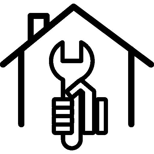 clé dans une main à l'intérieur d'une maison  Icône gratuit