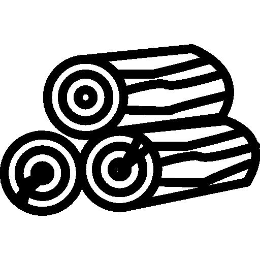 troncs de bois de chauffage empilés  Icône gratuit