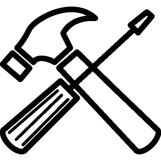 réparation outils croix  Icône gratuit