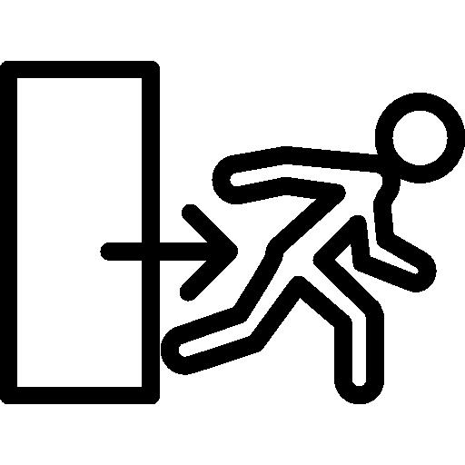 Exit door sign  free icon