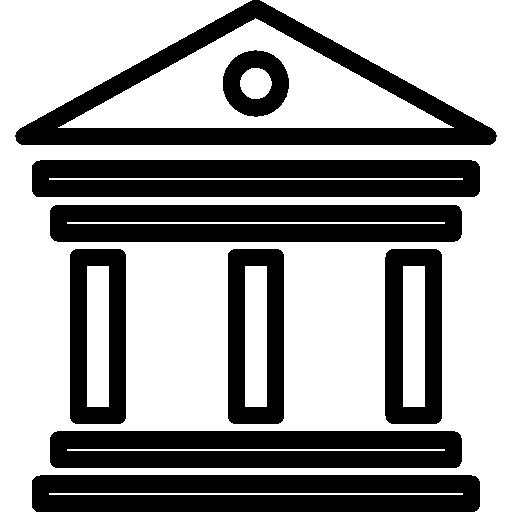 Antique elegant building with columns  free icon
