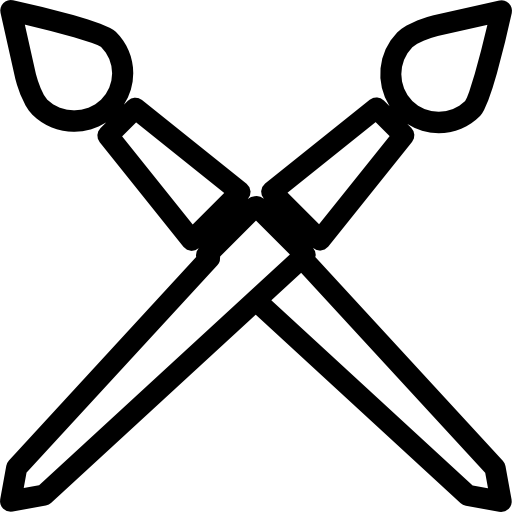 Brushes outlines cross  free icon
