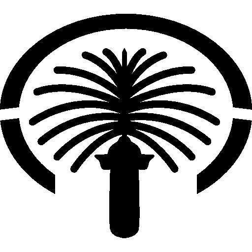 Памятник Пальма Джумейра, Дубай  бесплатно иконка