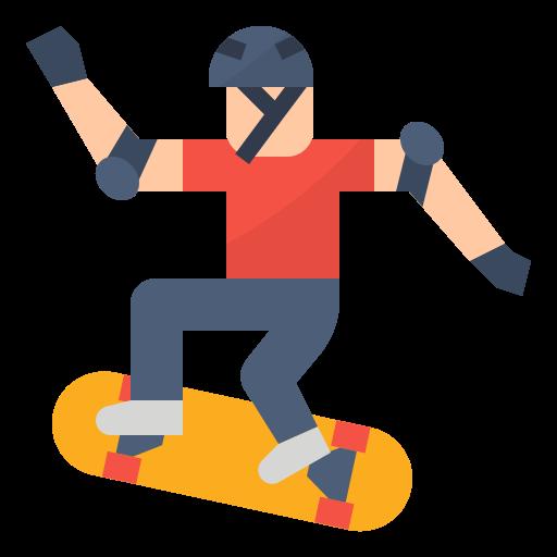 Skateboarding  free icon