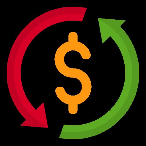 Money flow  free icon