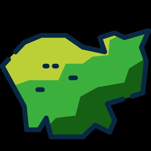 mapa del país  icono gratis