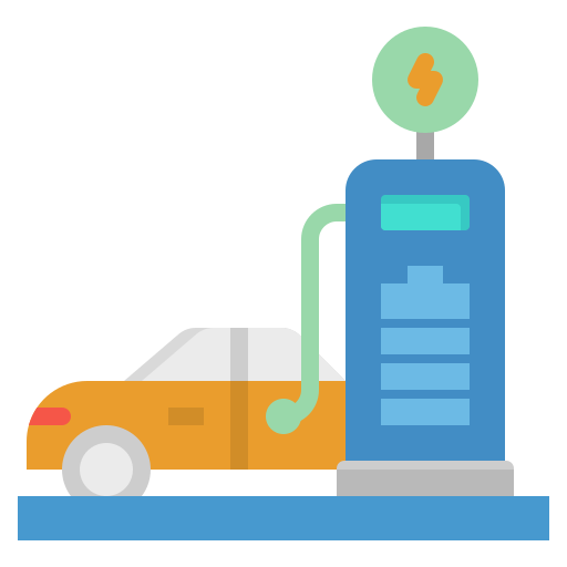 Electric car  free icon