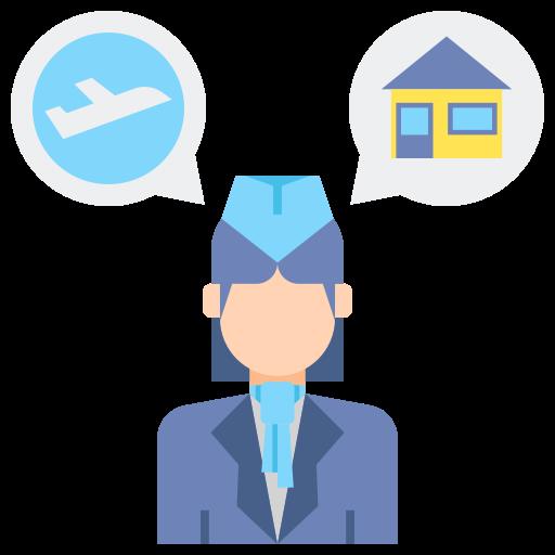 assistant de vol  Icône gratuit