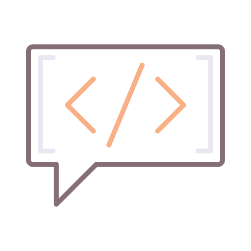 Coding language  free icon