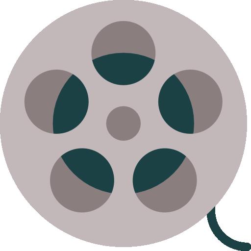 carrete de película  icono gratis