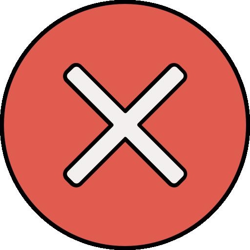 Cancel  free icon