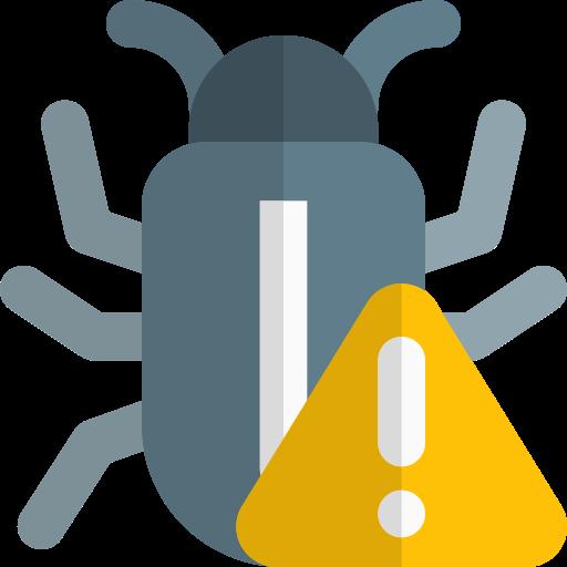 Virus warning  free icon