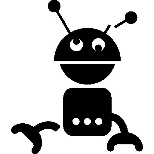 어지러운 로봇 실루엣  무료 아이콘