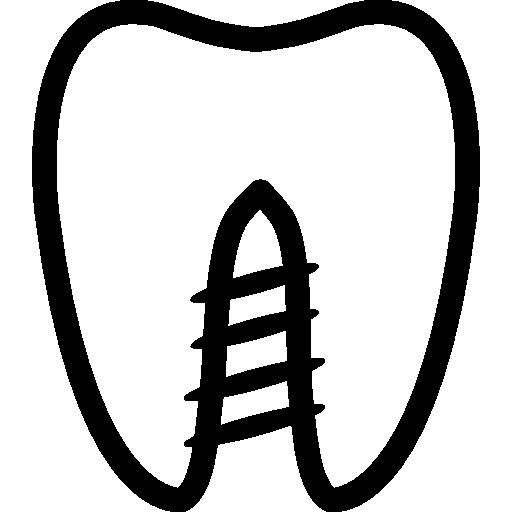 Контур зуба  бесплатно иконка