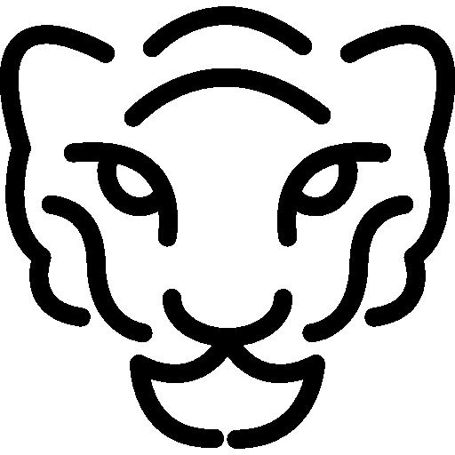 contour de tête de guépard  Icône gratuit