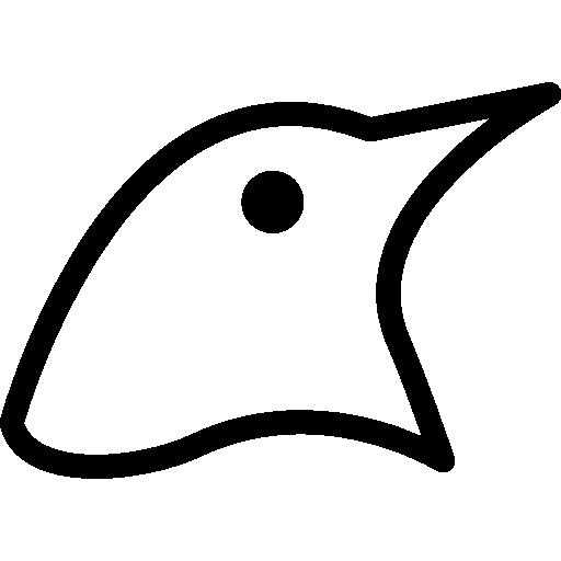contorno da cabeça do pássaro  grátis ícone
