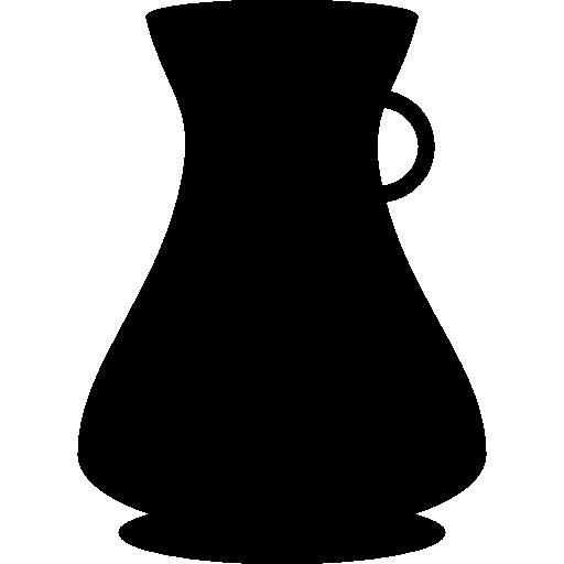 pot avec silhouette à petite poignée  Icône gratuit