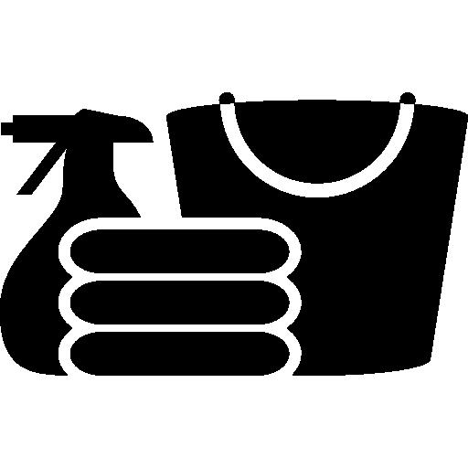 silhouette de matériaux de nettoyage  Icône gratuit