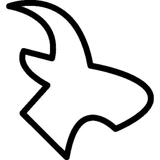 variante de contorno de pássaro voador  grátis ícone