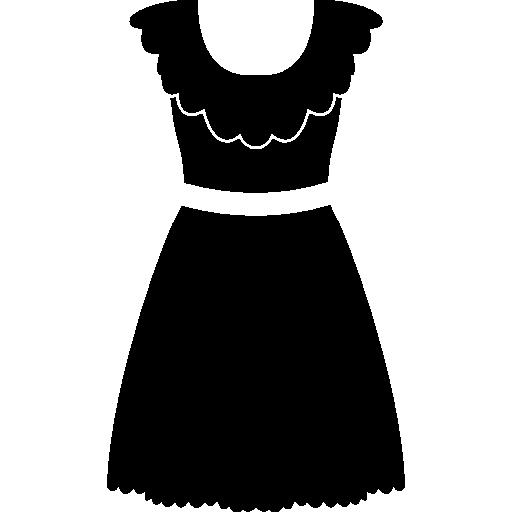 흰색 벨트가 달린 레이스 드레스  무료 아이콘