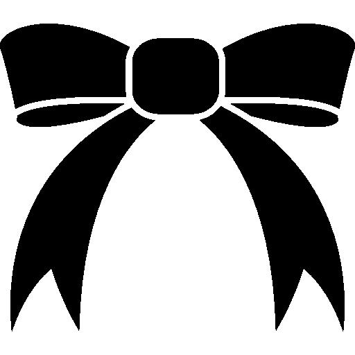 Ribbon tie with white details  free icon