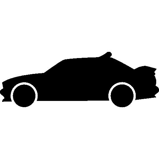 경주 용 자동차 측면보기 실루엣  무료 아이콘